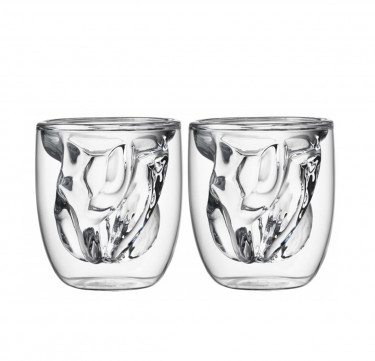 Elements Double Wall Glass - Earth (Set of 2)