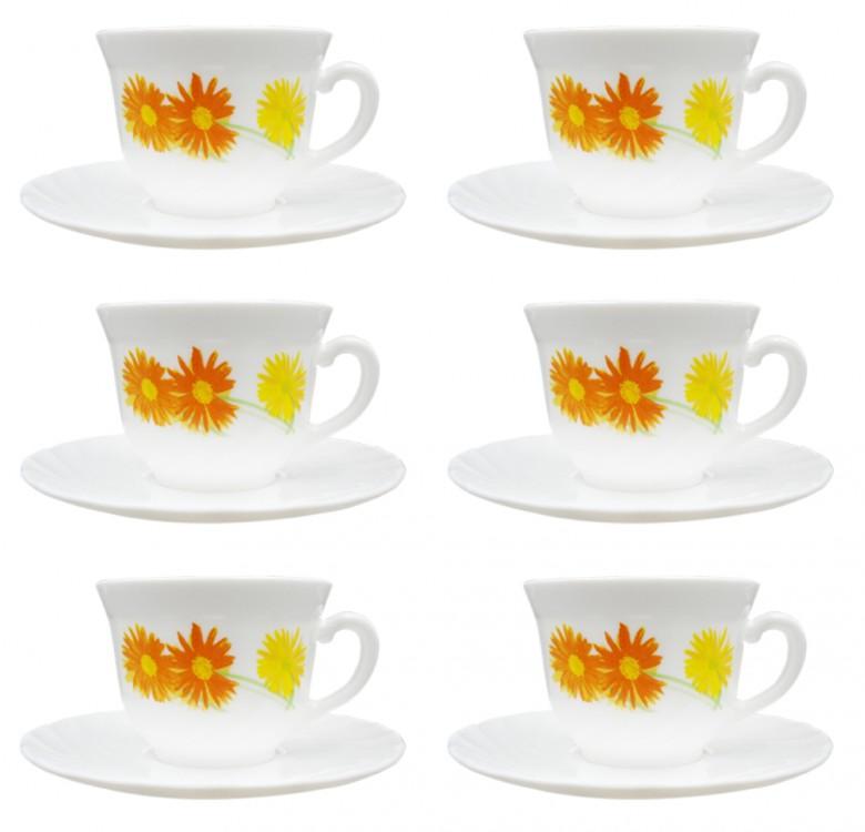 Marguerite 7oz Cup & 14cm Saucer Set of 6