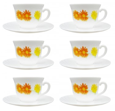 Marguerite 7oz Cup & 14cm Saucer Set of 6
