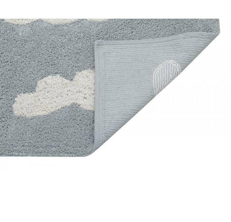 Clouds Grey Washable Rug