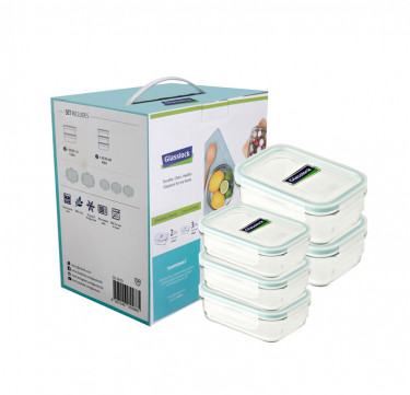 5-Piece Rectangle Type Food Keeper
