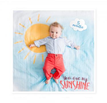 You Are My Sunshine Milestone Blanket & Card Set
