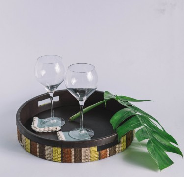 Forest Stripes Serving Tray