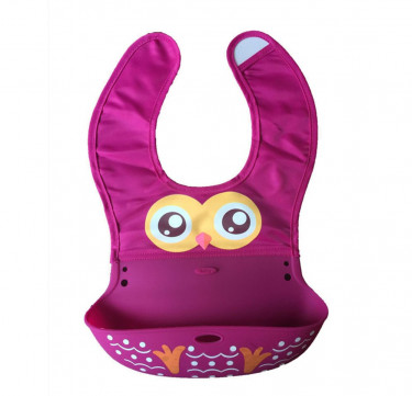 Owl Roll-Up Bib with Food Catcher