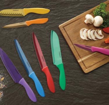 14-piece Metallic Color Stainless Steel Knife Set