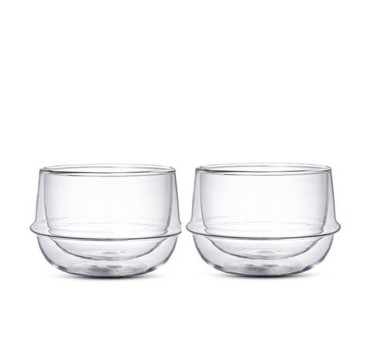 23105 Kronos Double Wall Tea Cups (Set of 2)