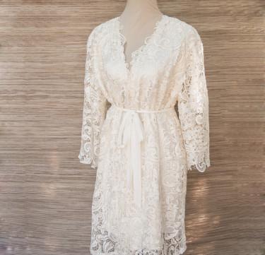 Ellie Knee Length Bridal Robe