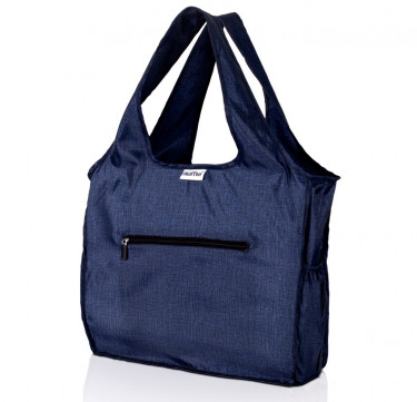ALL Foldable Zippered Tote (Heather Denim)