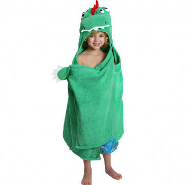 Devin the Dino Kids Hooded Towel