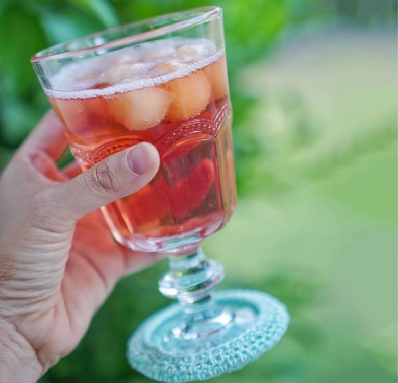 Hand-Crocheted Wine Glass Coaster Set (Plain)