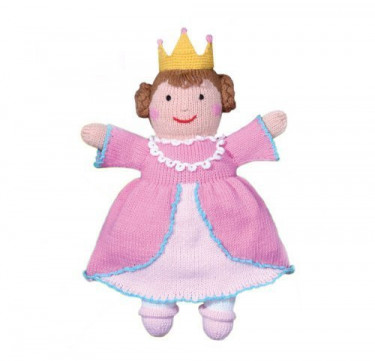 Milly the Princess Hand-knit Cotton Doll
