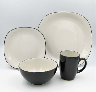 16-Piece Bali Latte Stoneware Dinner Set