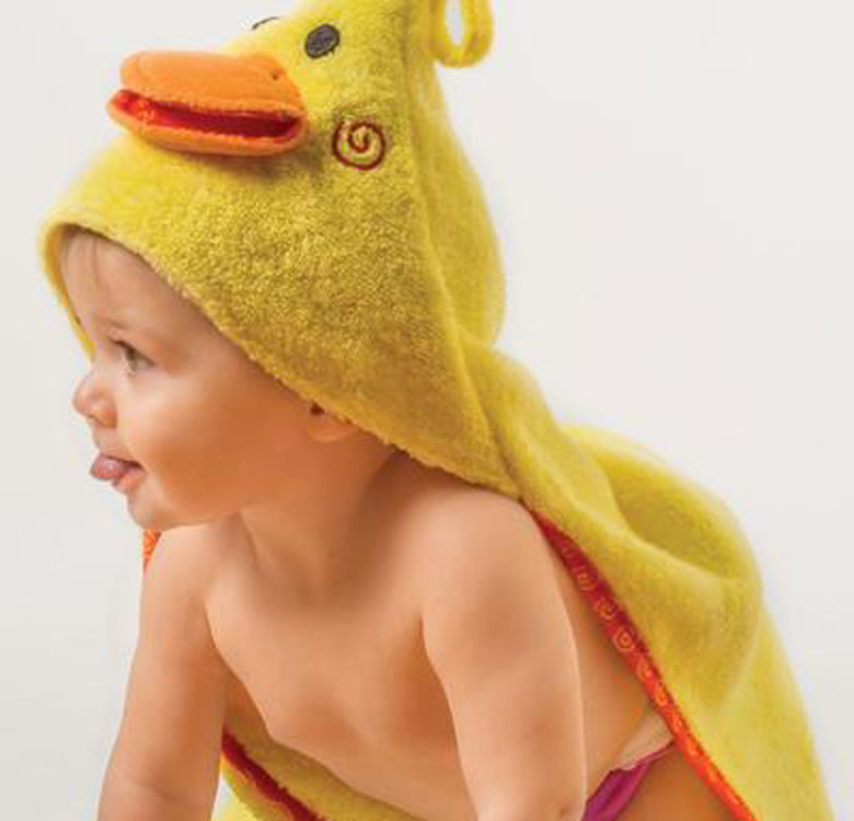 Puddles the Duck Baby Towel Hoodie