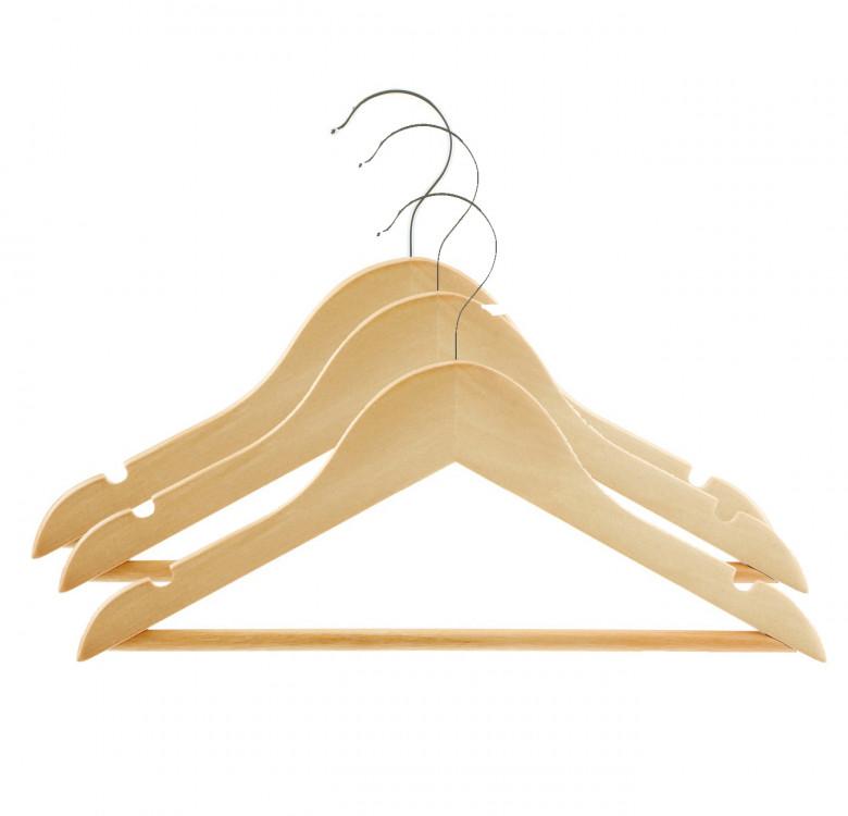 Pack of 3 Wooden Kids Hangers