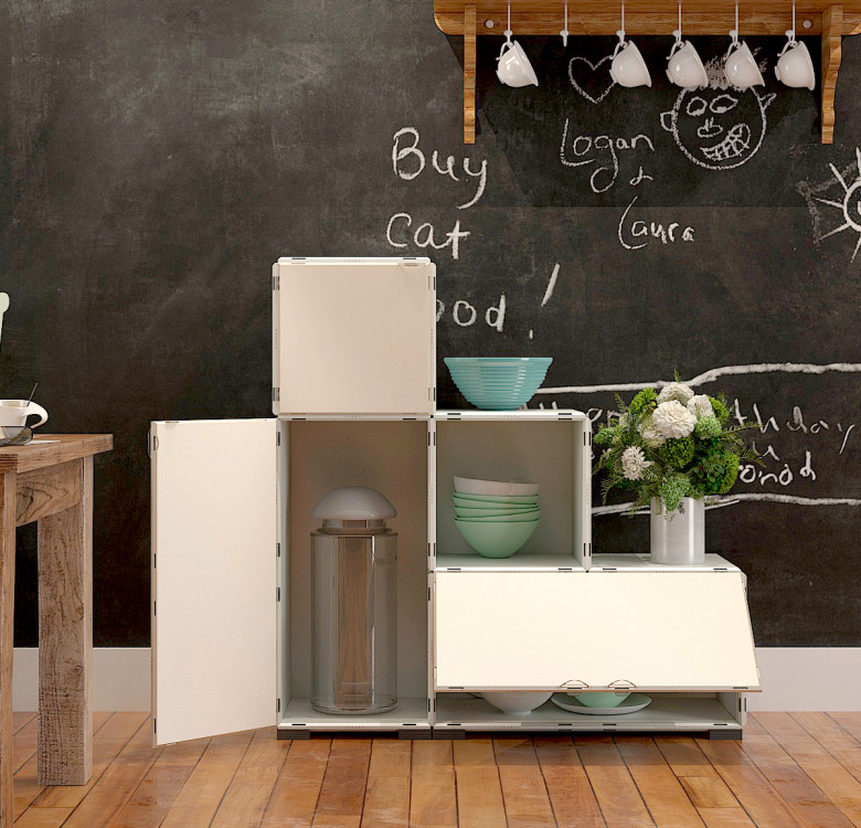 Modular Cabinet Set 15 + 6 - Monochrome