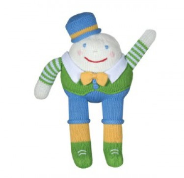 Mr. D / Humpty Dumpty Hand-knit Cotton Doll