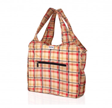 ALL Foldable Zippered Tote (Lumberjack)