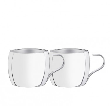 2pc. Double-Walled Tea & Cappucino Set
