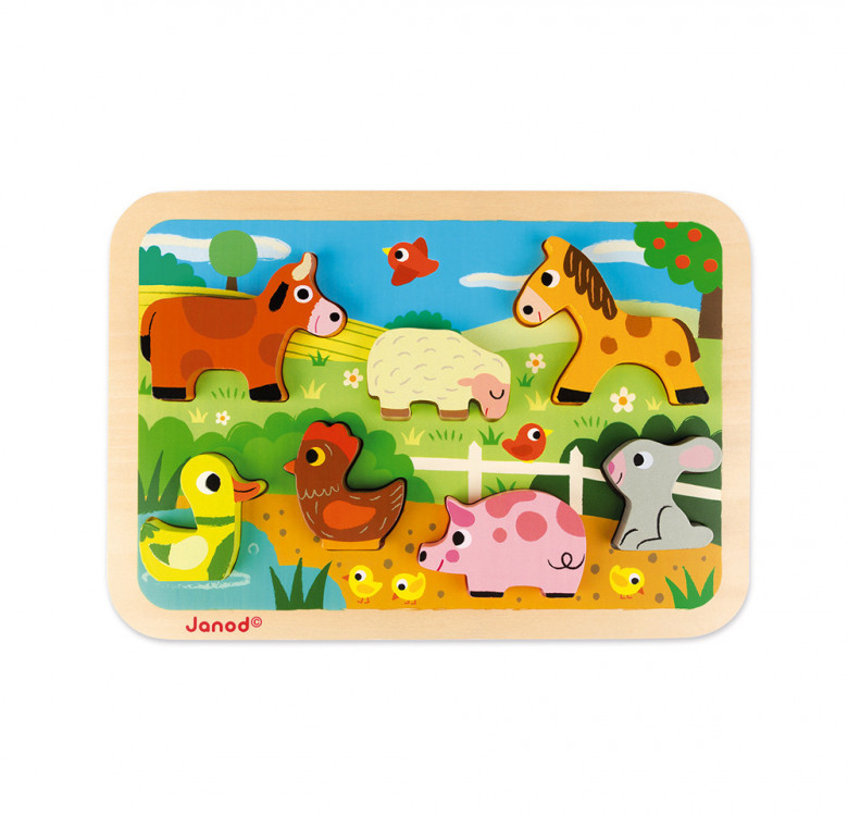 Chunky Puzzle Farm 7 Pieces (Wood)