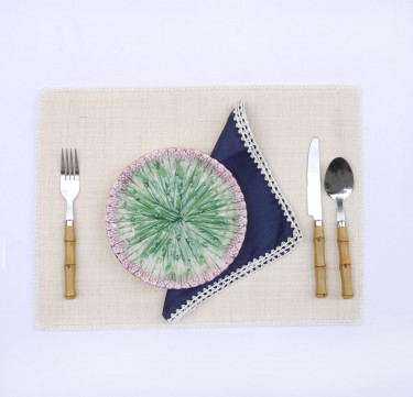 Linen Raffia Placemat & Napkin Set for 6