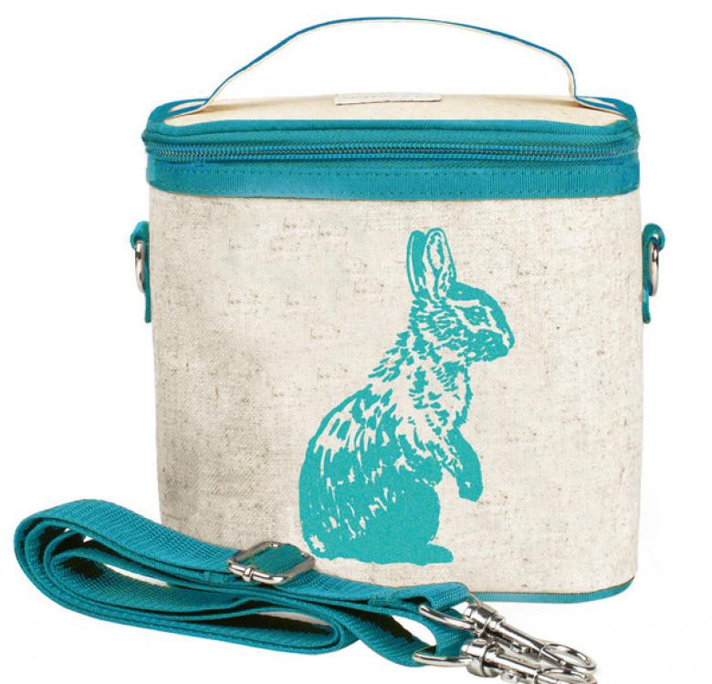 Small Cooler Bag (Aqua Bunny)