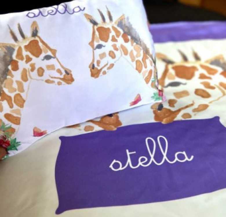 Personalized Baby Pillow + Blanket Set (Designs Available)