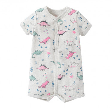 Dinosaurs Are For Girls Too SS Romper