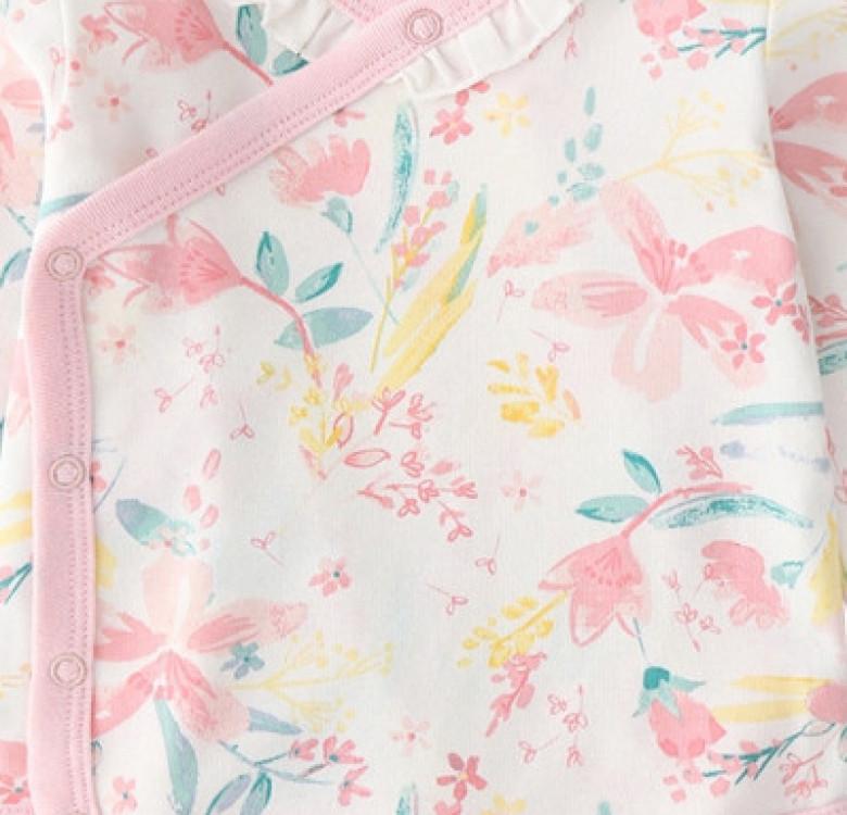 Blossoms Kimono LS Bodysuit