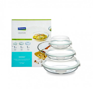 3-Piece Round Plus Type Food Keeper