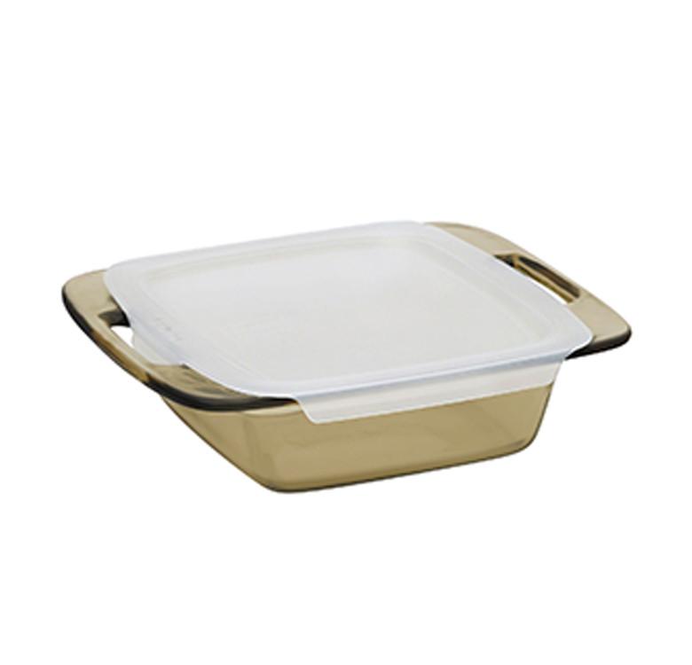 Easy GrabTM Amber 8 Square Baking Dish