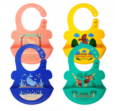 Limited Edition Filipino Travel Silicone Food Bibs