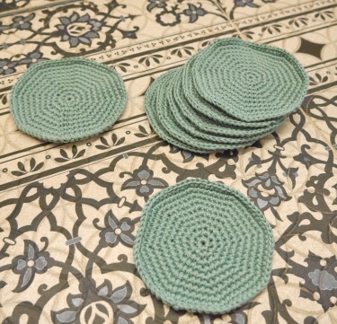 Pastel Spiral Double-Thread Coasters