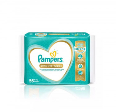 Pampers Sensitive Baby Wipes (56 sheets)