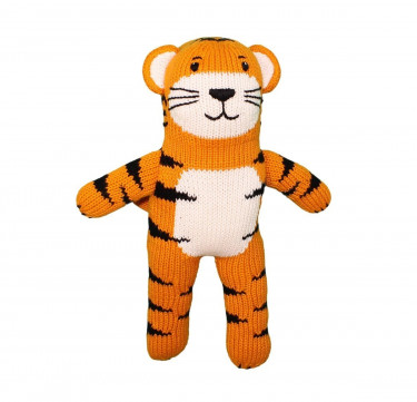 Kai the Tiger Hand-Knit Rattle