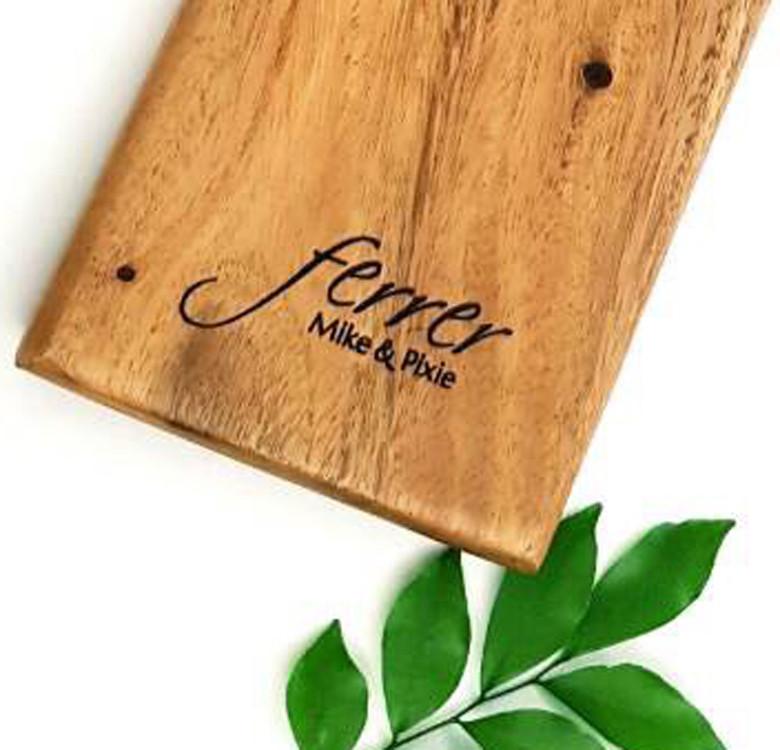 Personalized Acacia Paddle Board