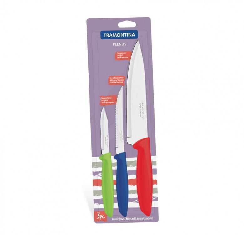Plenus 3-Piece Knife Set Colored