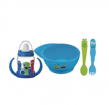 Monster Baby 4-Piece Cutlery Set