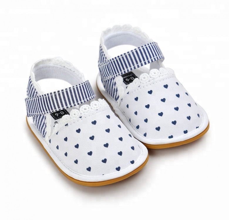 Stripes and Hearts Baby Shoes
