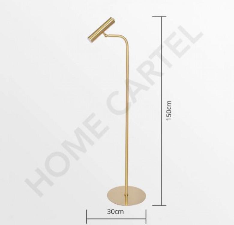 Cygnus Brass Modern Floor Lamp