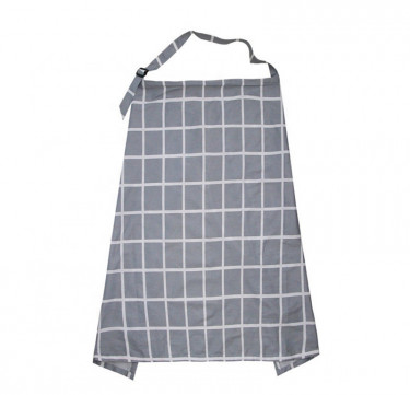 Scandinavian Plaid Nursing Cover
