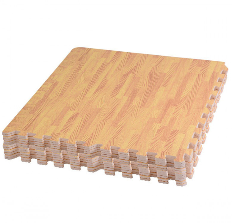 Wood Grain Play Mat Set
