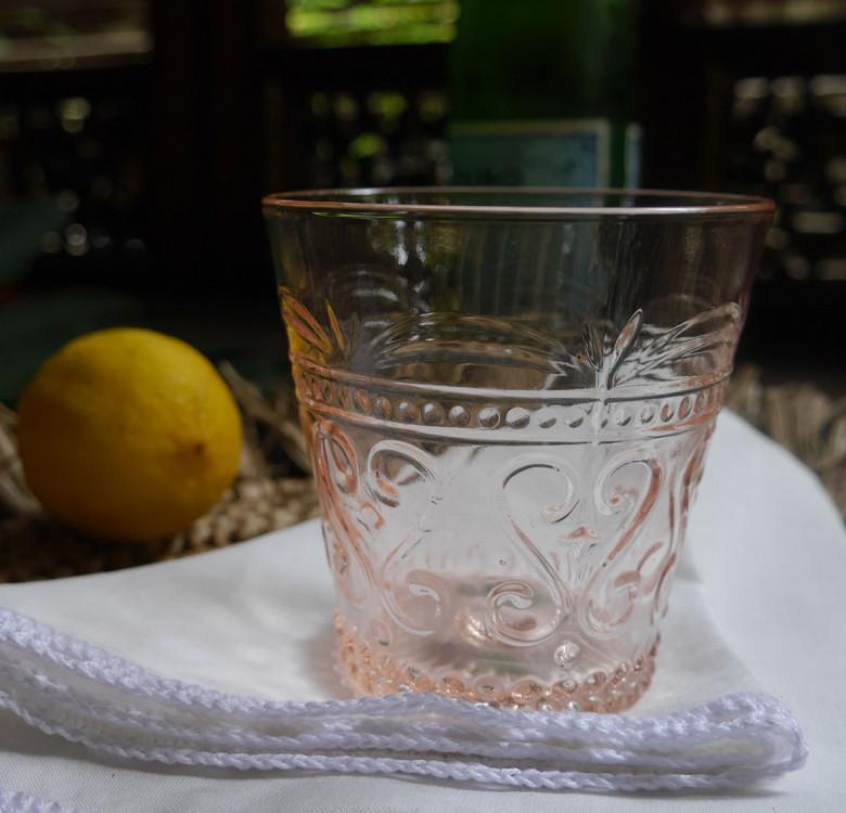 Tall Pink Pitcher & Glass Set of 5