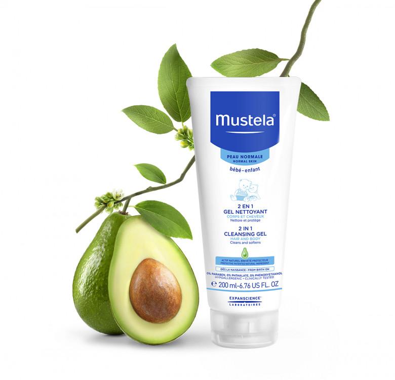 Mustela 2 in 1 Cleansing Gel 200ml (Normal Skin)
