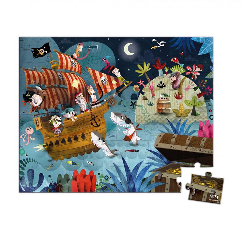 Hat Boxed Puzzle Treasure Hunt 36 pieces