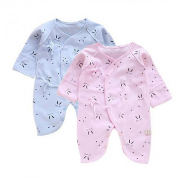 Newborn Lace-Up Coverall (Little Bunny)