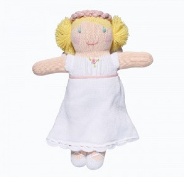 Grace the Angel Hand-knit Cotton Doll