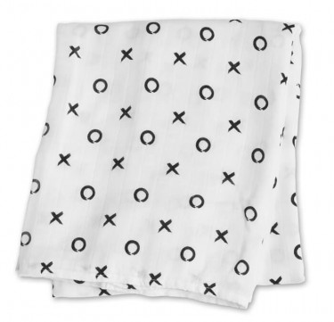 Hugs & Kisses Bamboo Muslin