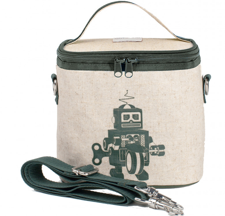 Small Cooler & Lunch Bag (Grey Robot)