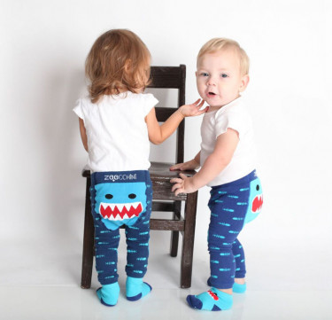 Sherman the Shark Grip+Easy Crawler Leggings & Socks