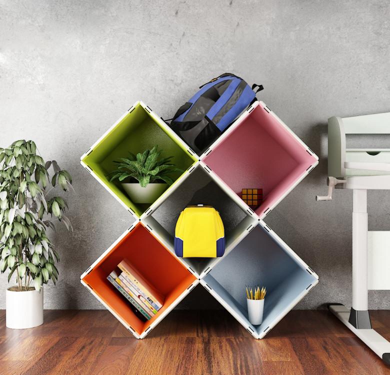Modular Cabinet Set 20 - Multi-Colored